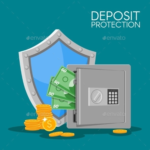 Bank Deposit Vector Illustration Flat Style - Concepts Business