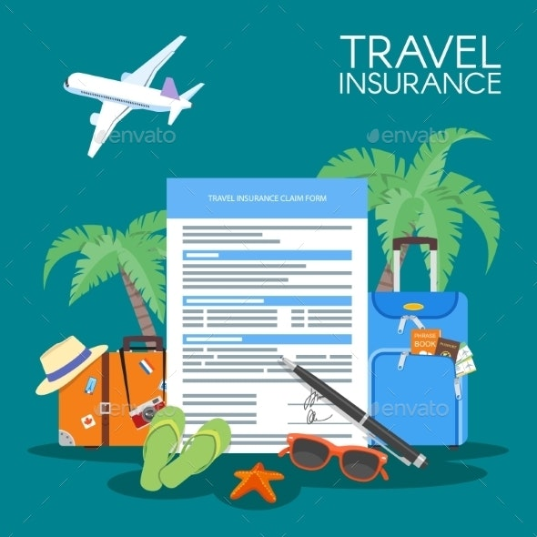 Travel Insurance Form Concept Vector Illustration - Travel Conceptual