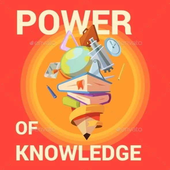 Education Cartoon Poster - Backgrounds Decorative