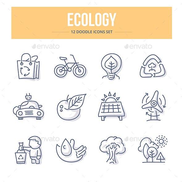 Ecology Doodle Icons
