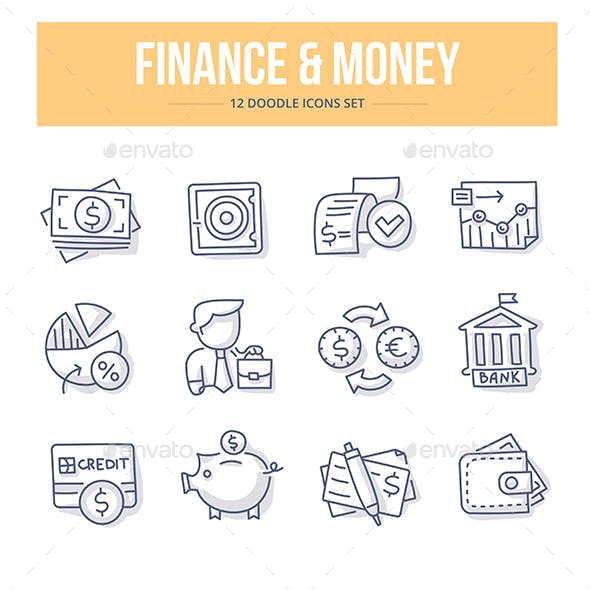 Finance & Money Doodle Icons