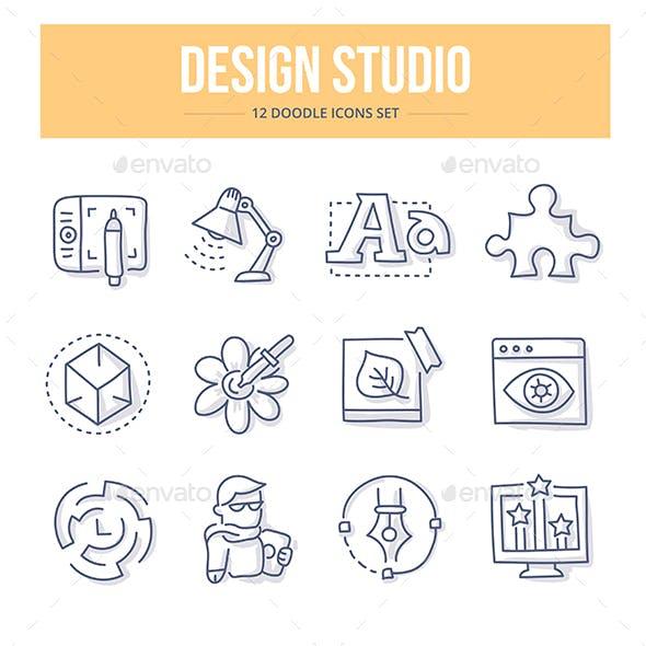 Design Studio Doodle Icons