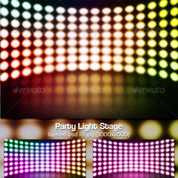 Party Light Stage Background