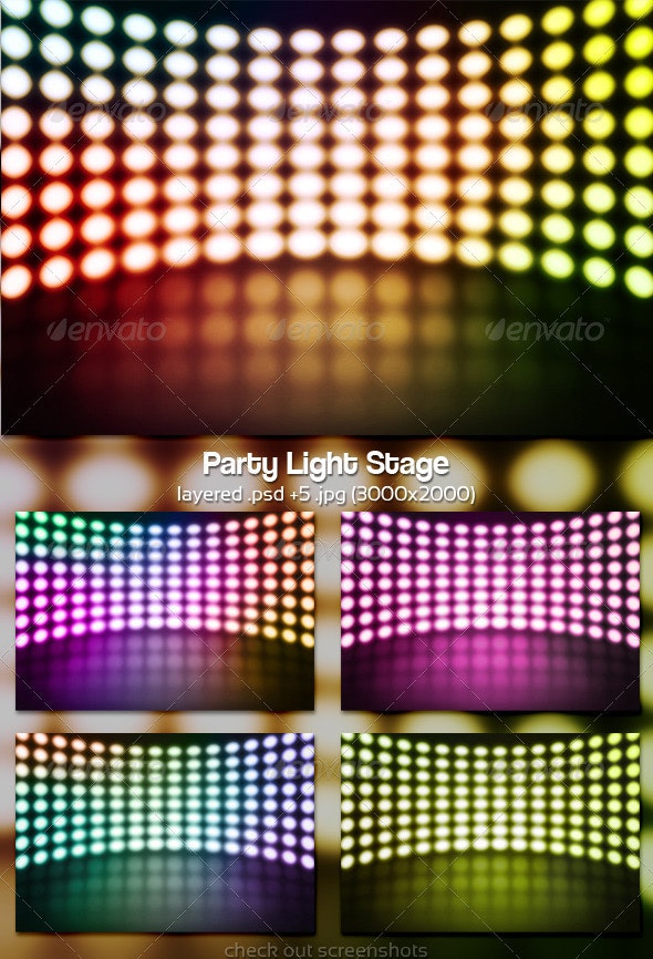 Party Light Stage Background - Backgrounds Graphics