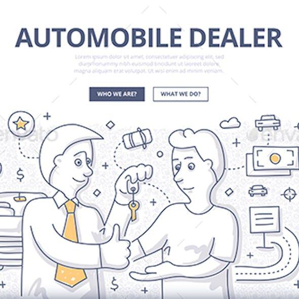 Auto Dealer Doodle Concept