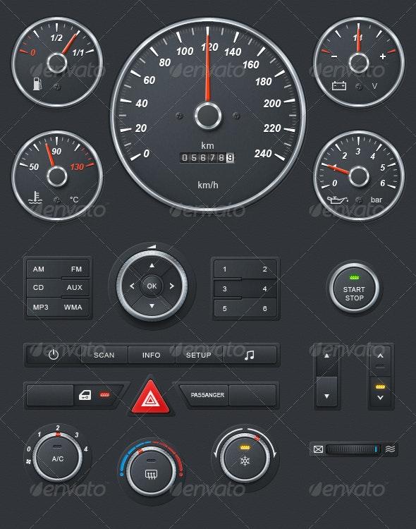 Realistic Car Dashboard - Miscellaneous Graphics