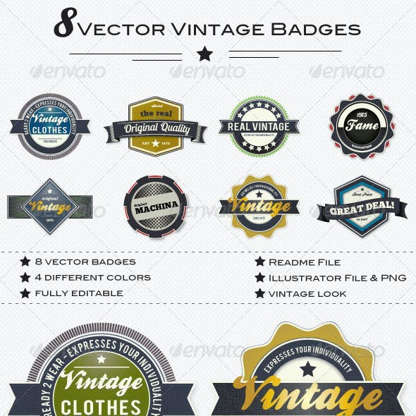 Trendy Set of Vector Badges
