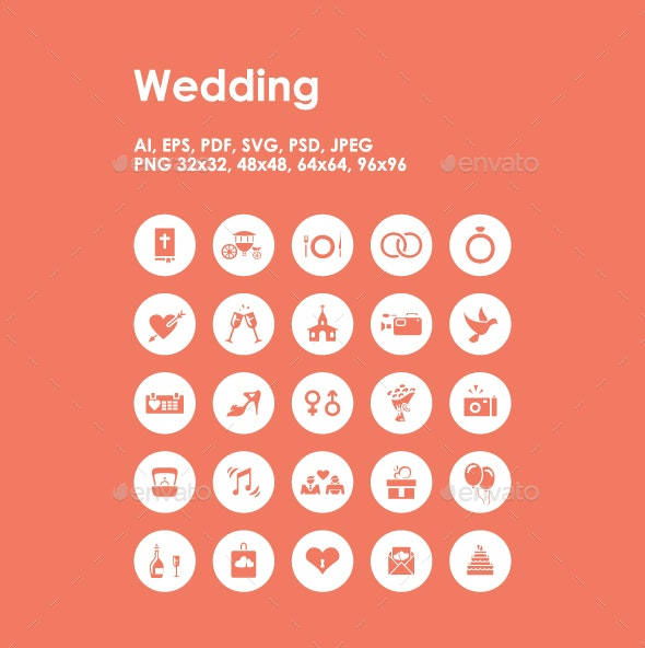 25 Wedding icons - Objects Icons
