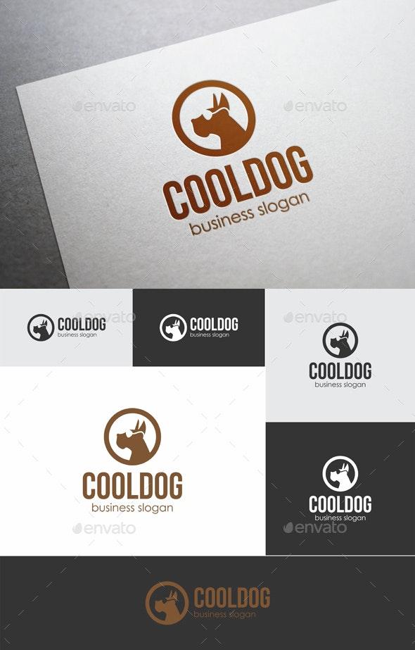 Cool Dog - Animals Logo Templates