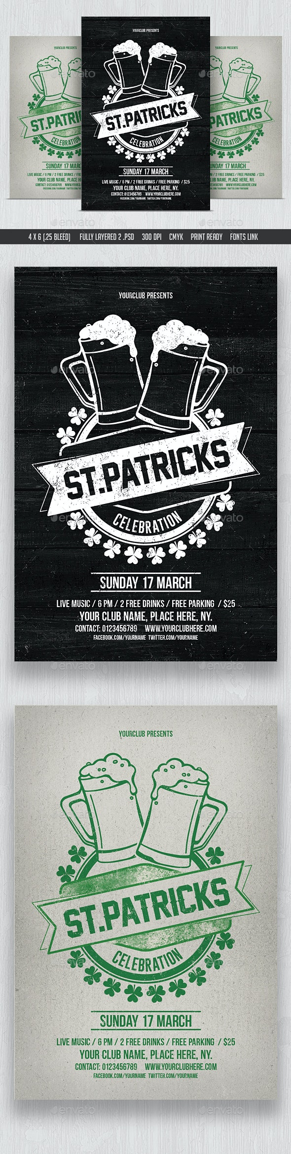 St Patricks Day Celebration - Events Flyers