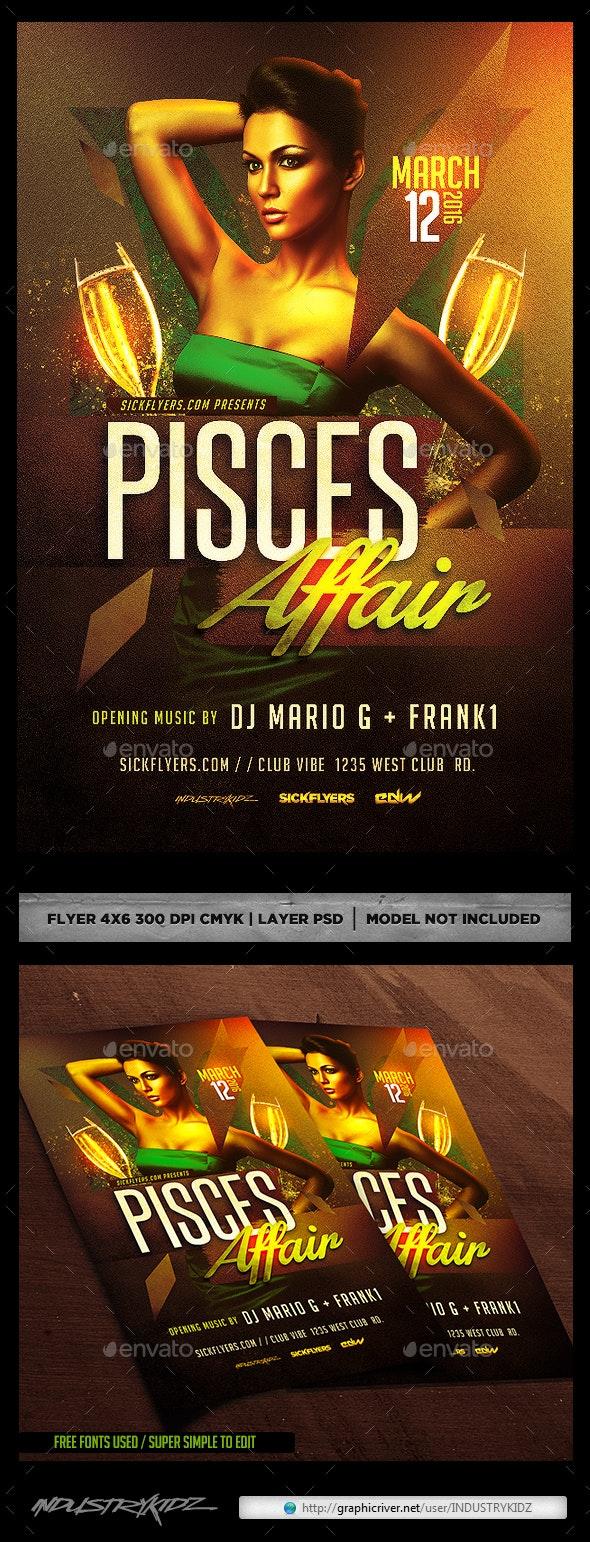 Pisces Affair Flyer  - Clubs & Parties Events