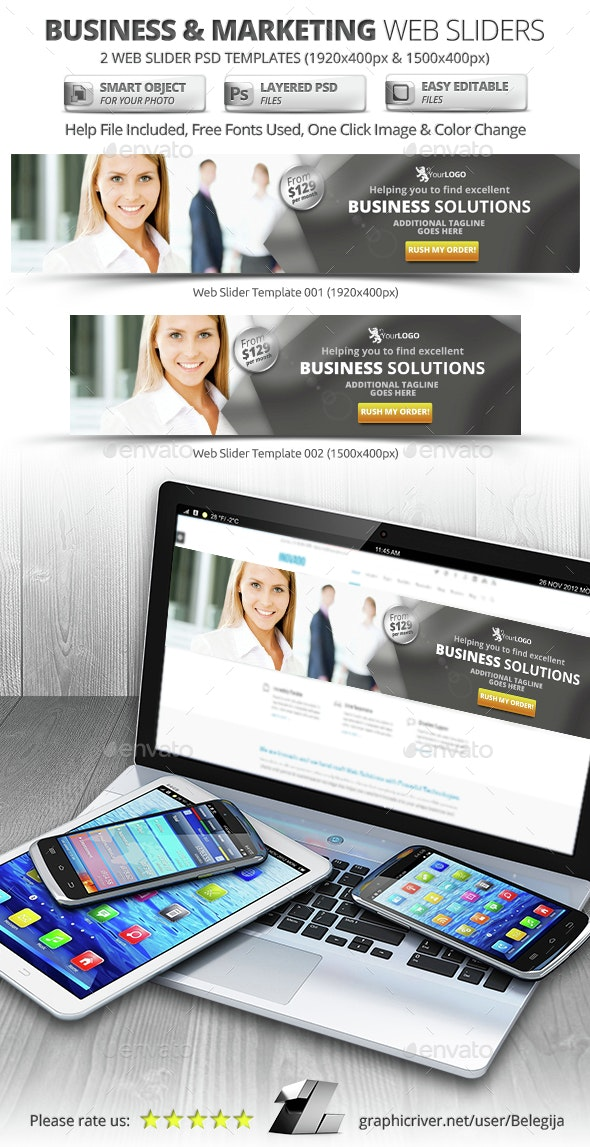 Business & Marketing Web Sliders - Sliders & Features Web Elements