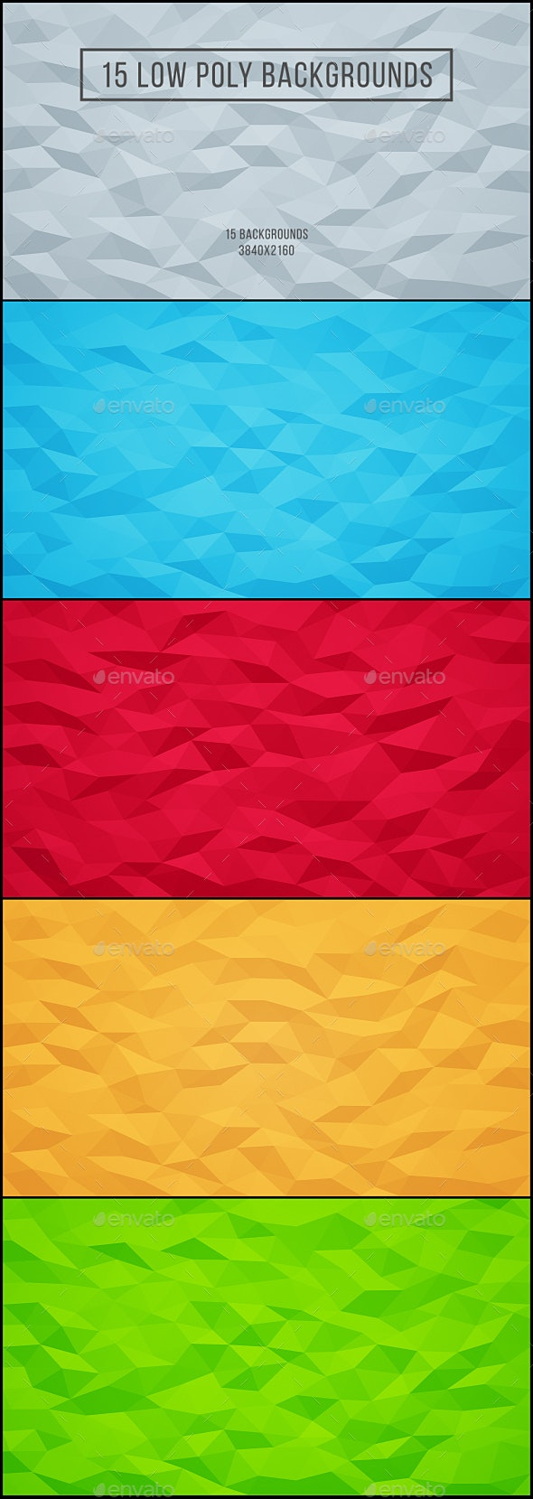 15 Low Poly Backgrounds - Abstract Backgrounds