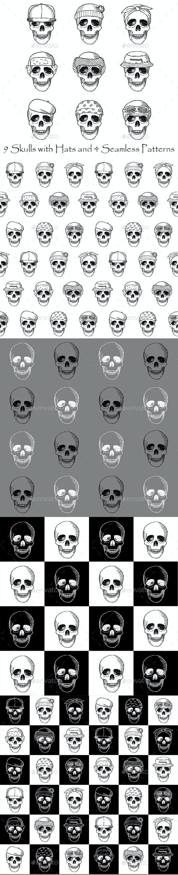 Skulls Collection - Patterns Decorative