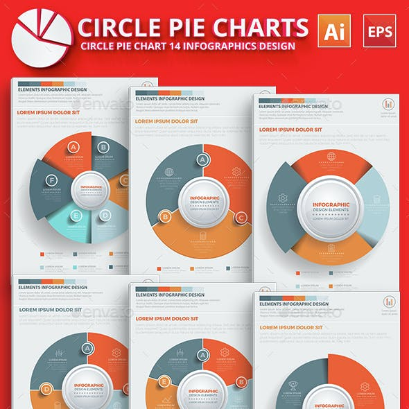 Circle Pie Chart Infographic Elements Design