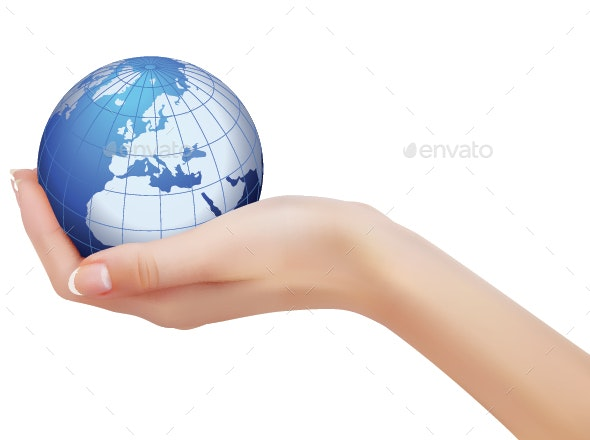 Hand Holding  Earth - Miscellaneous Characters