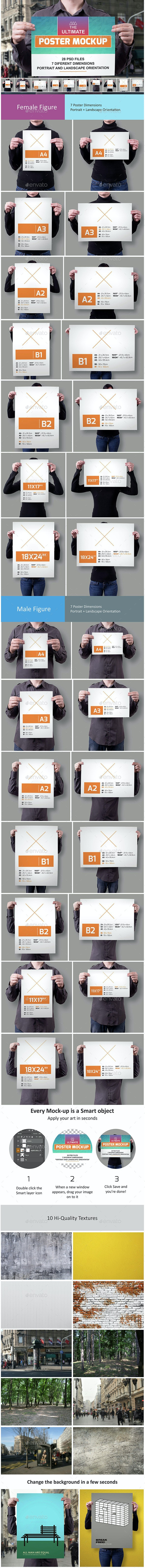 The Ultimate Poster Mockup - Product Mock-Ups Graphics