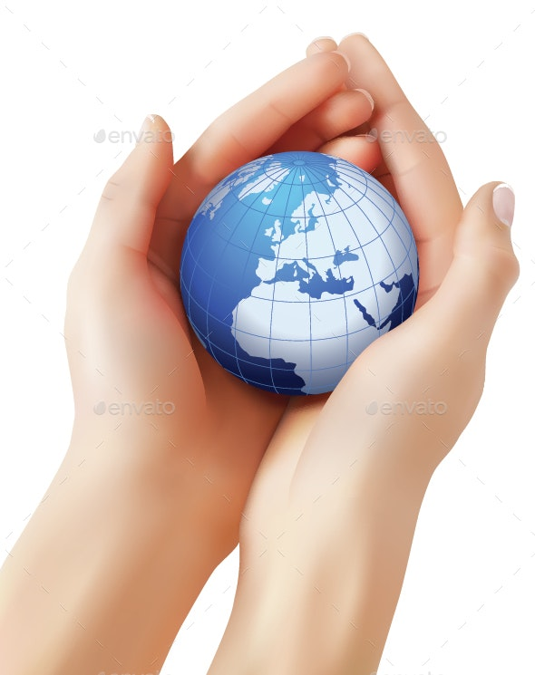 Hands Holding  Earth - Miscellaneous Characters