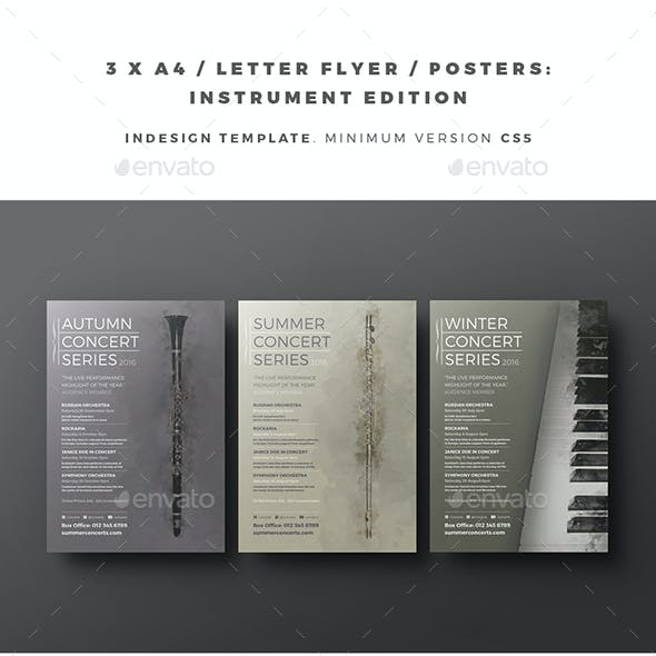 3 x A4 / Letter Flyer / Posters - Instrument Edition