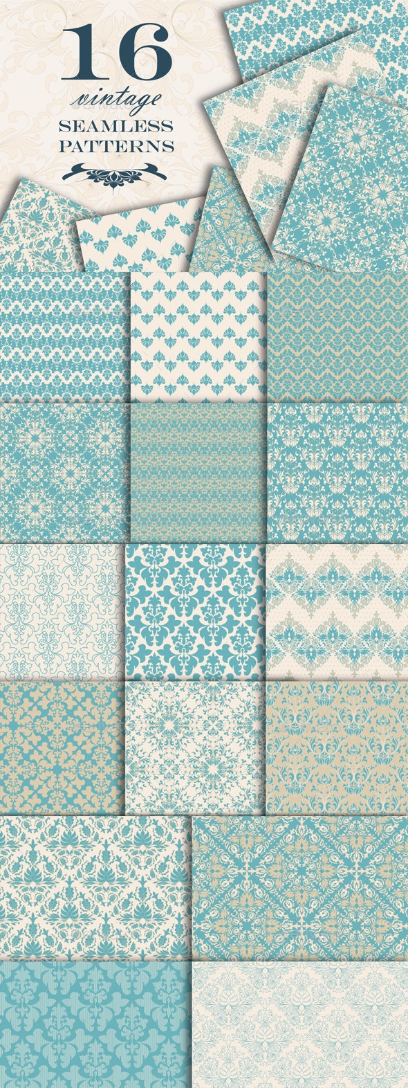 Vintage Seamless Patterns - Patterns Decorative
