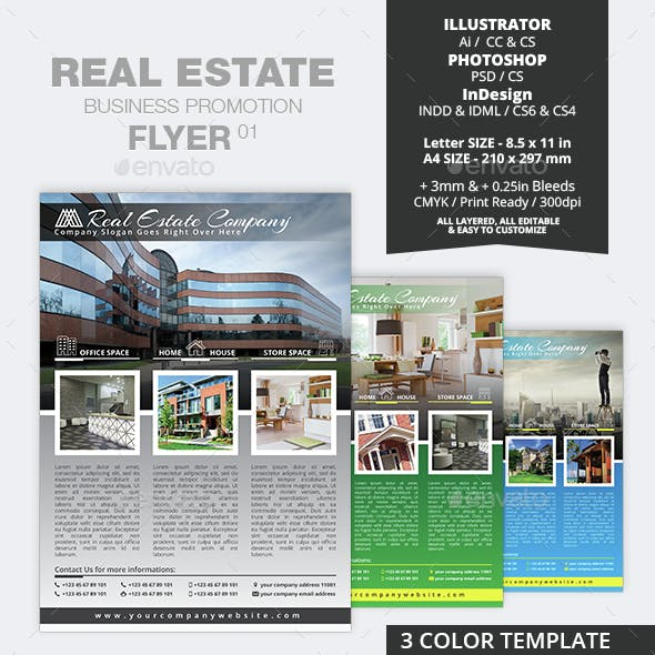 Real Estate Business Promotion Flyer 01