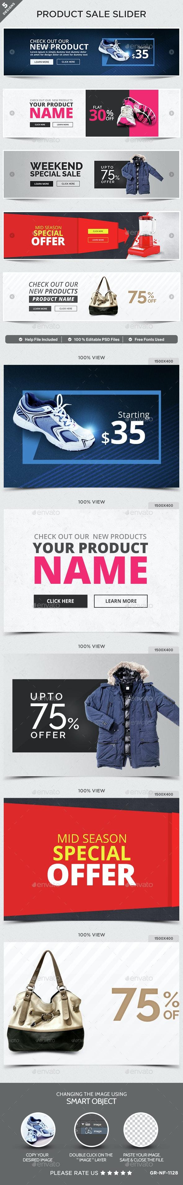 Product Sale Sliders -  5 Designs - Sliders & Features Web Elements