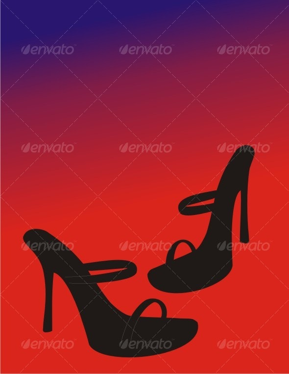 Elegant Female Shoes on a modern Background - Commercial / Shopping Conceptual