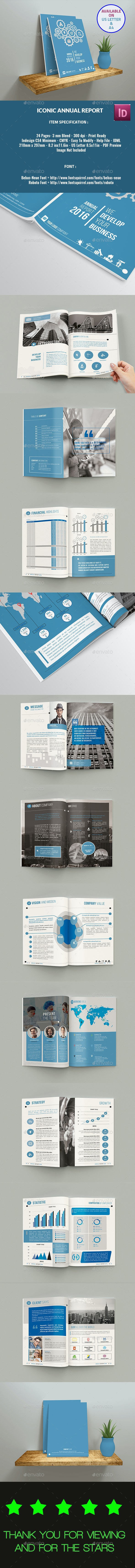 Iconic Annual Report - Brochures Print Templates