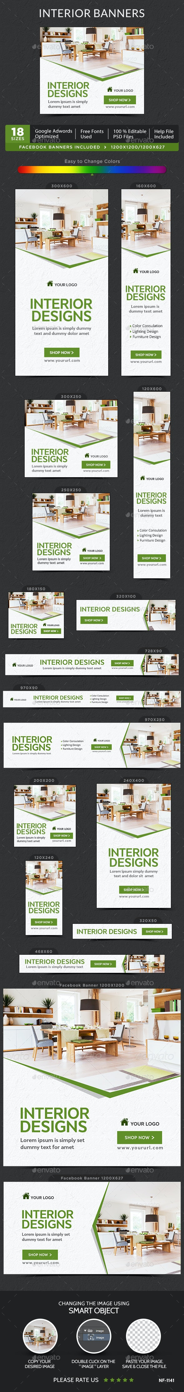 Interior Banners - Banners & Ads Web Elements
