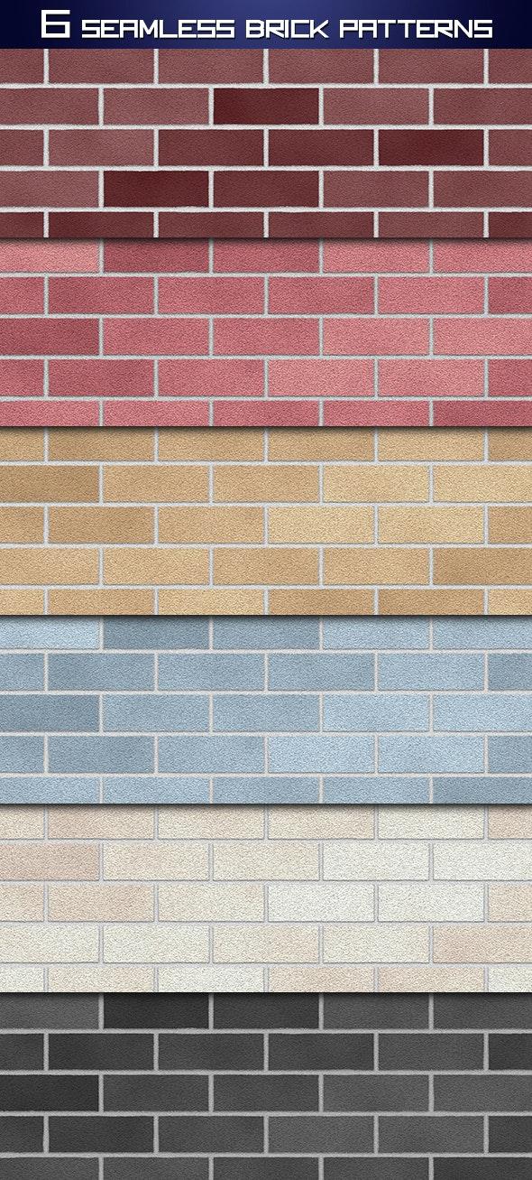 Seamless Brick Wall Patterns - Textures / Fills / Patterns Photoshop