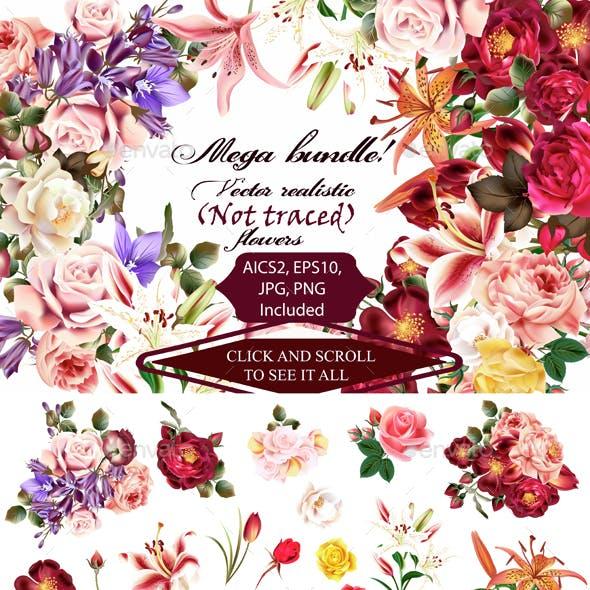 Mega Roses and Florals Pack