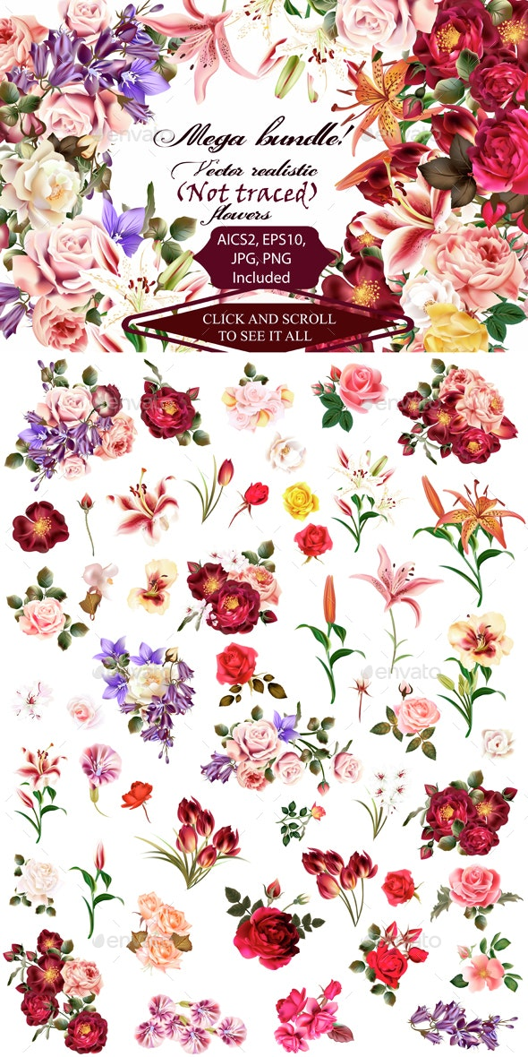 Mega Roses and Florals Pack  - Flowers & Plants Nature