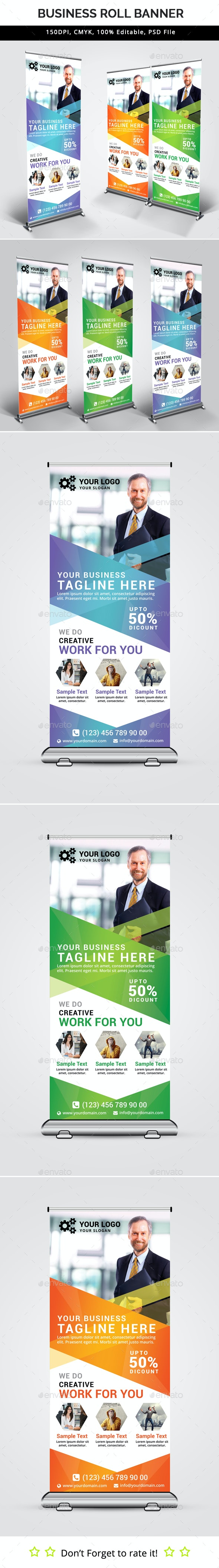 Business Roll Up Banner V30 - Signage Print Templates