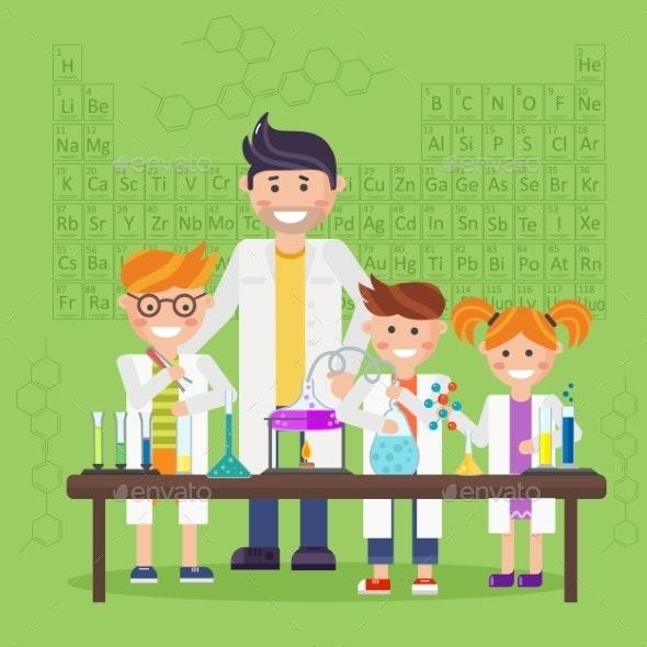 Chemistry Laboratory Education Concept - Health/Medicine Conceptual
