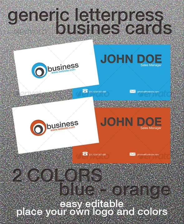Generic Letterpress Business Card - Creative Business Cards