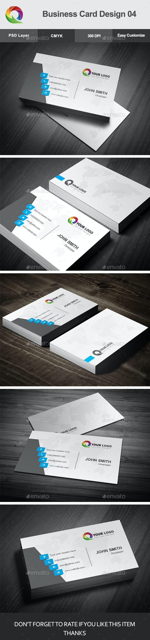 Business Card Design 04 - Corporate Business Cards