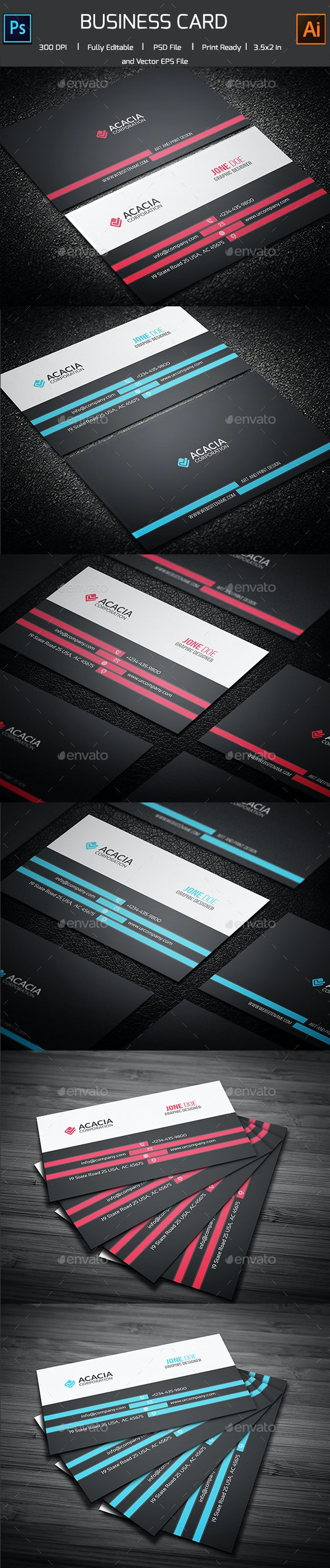 Kanial Business Card - Corporate Business Cards