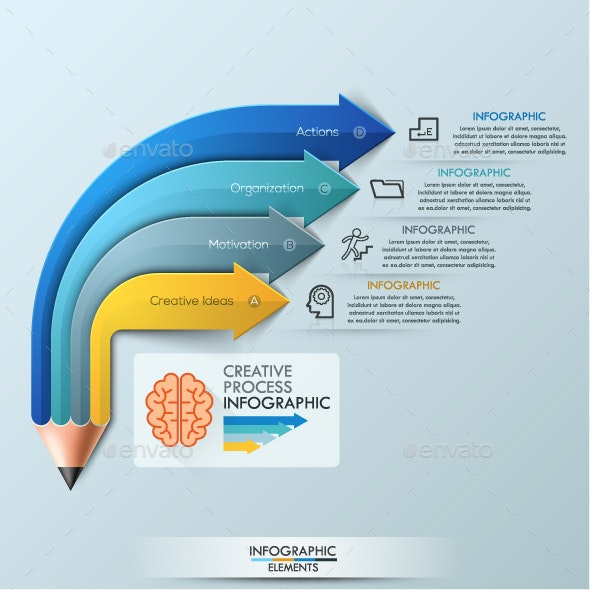 Modern Infographic Pencil Concept - Infographics