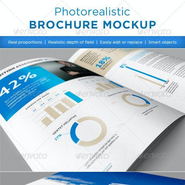 Realistic brochures mock-ups