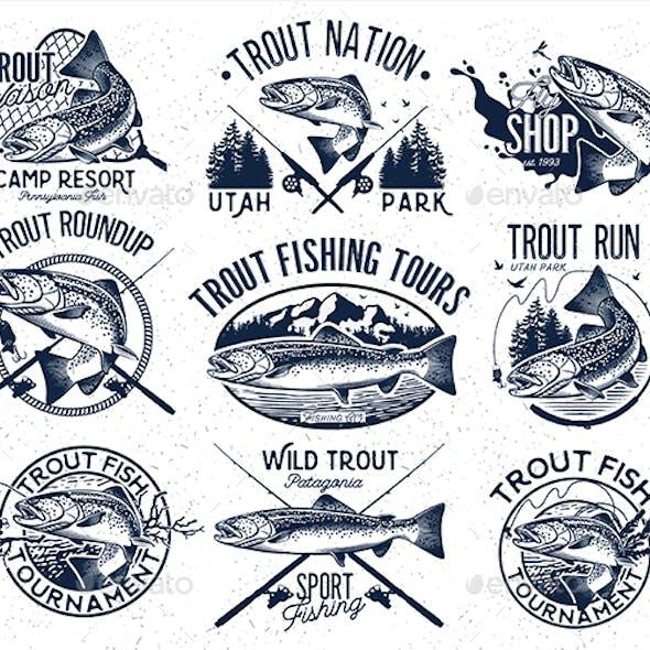 Trout Fishing Set 2