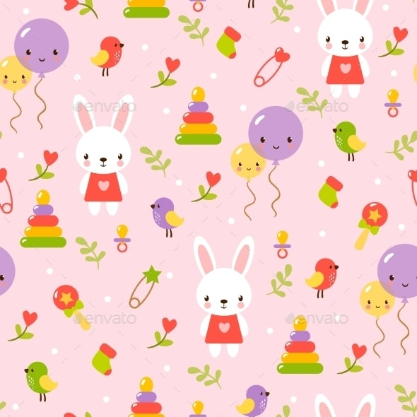 Seamless Baby Pattern - Birthdays Seasons/Holidays