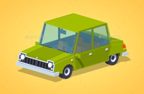 Old Green Sedan - Man-made Objects Objects