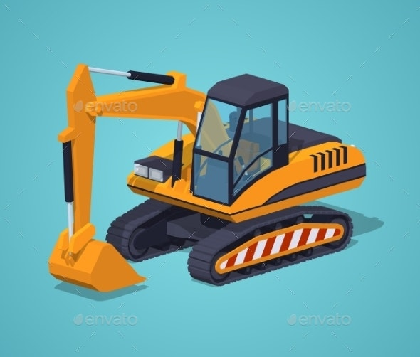Yellow Excavator Special Machinery - Man-made Objects Objects