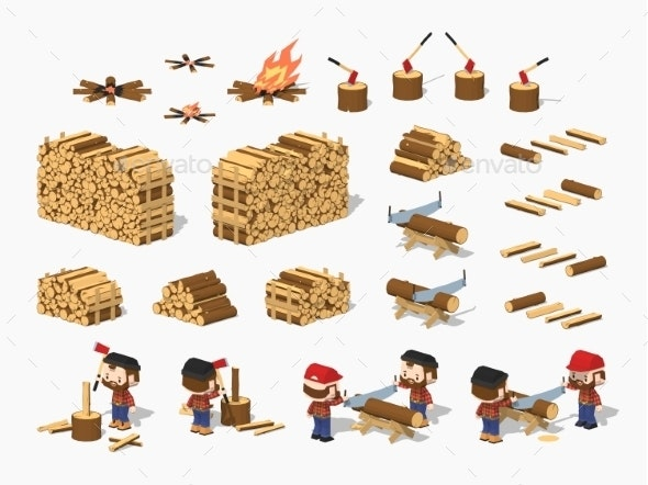 Firewood Harvesting by Lumberjacks - Industries Business