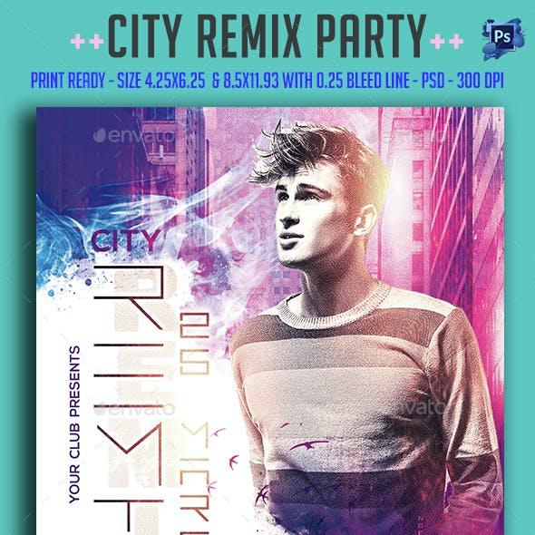 City Remix Party Flyer