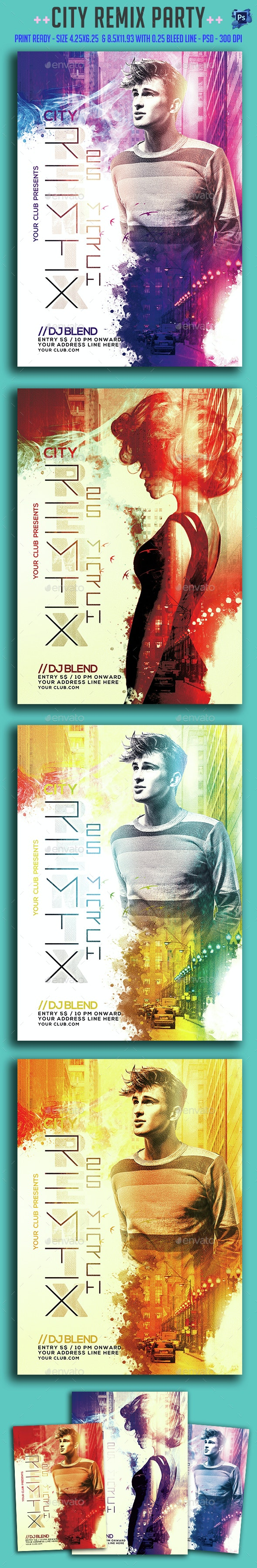 City Remix Party Flyer - Clubs & Parties Events