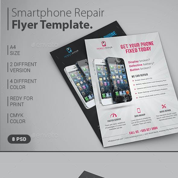 Smartphone Repair Service Flyer / Magazine Ad