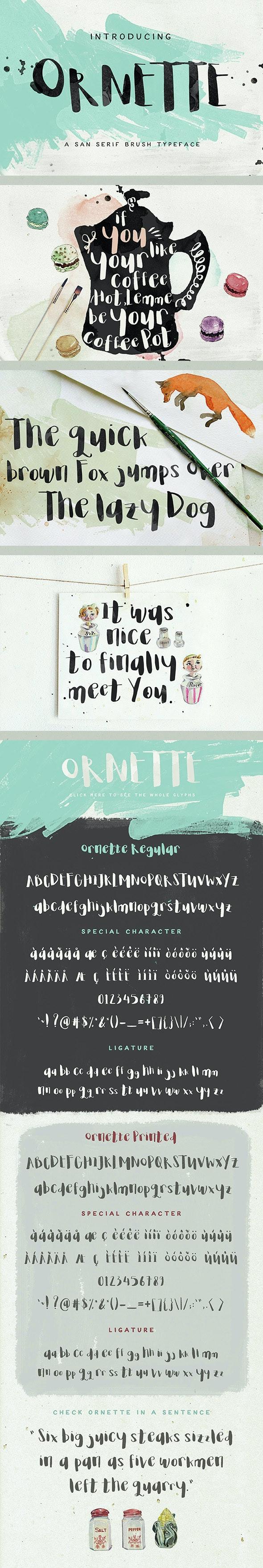 Ornette - Script Fonts