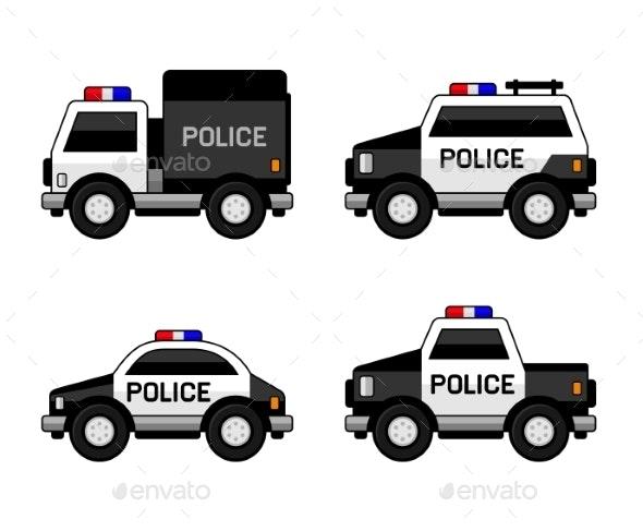 Police Car Set - Travel Conceptual
