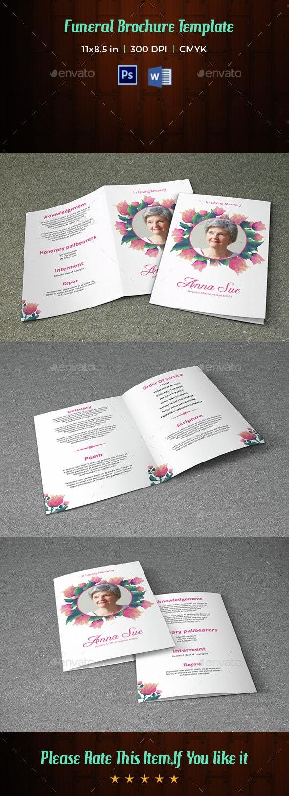 Funeral Program Template-V27 - Informational Brochures